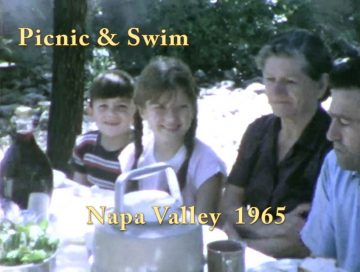 Kriletich Picnic Swim in Napa Valley – 1965