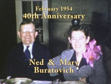 Ned and Mary Buratovich 40th Anniversary – 1954