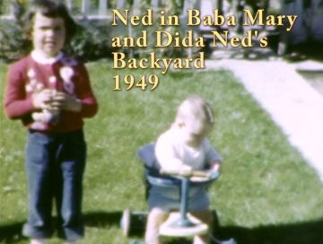 Ned in Baba Mary & Dida Ned's Yard – 1949