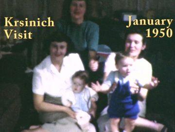 Krsinich family visit – 1950