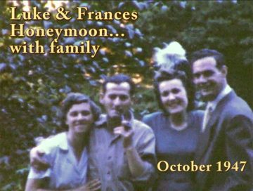 Luke and Frances Honeymoon – 1947