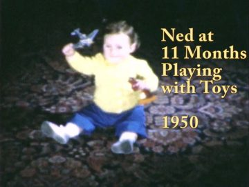Ned at 11 Months with Toys – 1950