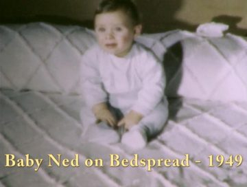 Baby Ned on Bedspread – 1949