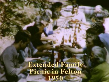 Big Family Picnic in Felton – 1950