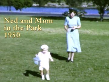 Ned and Mom at the Park – 1950