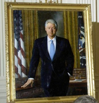 Official White House portrait of President Bill Clinton